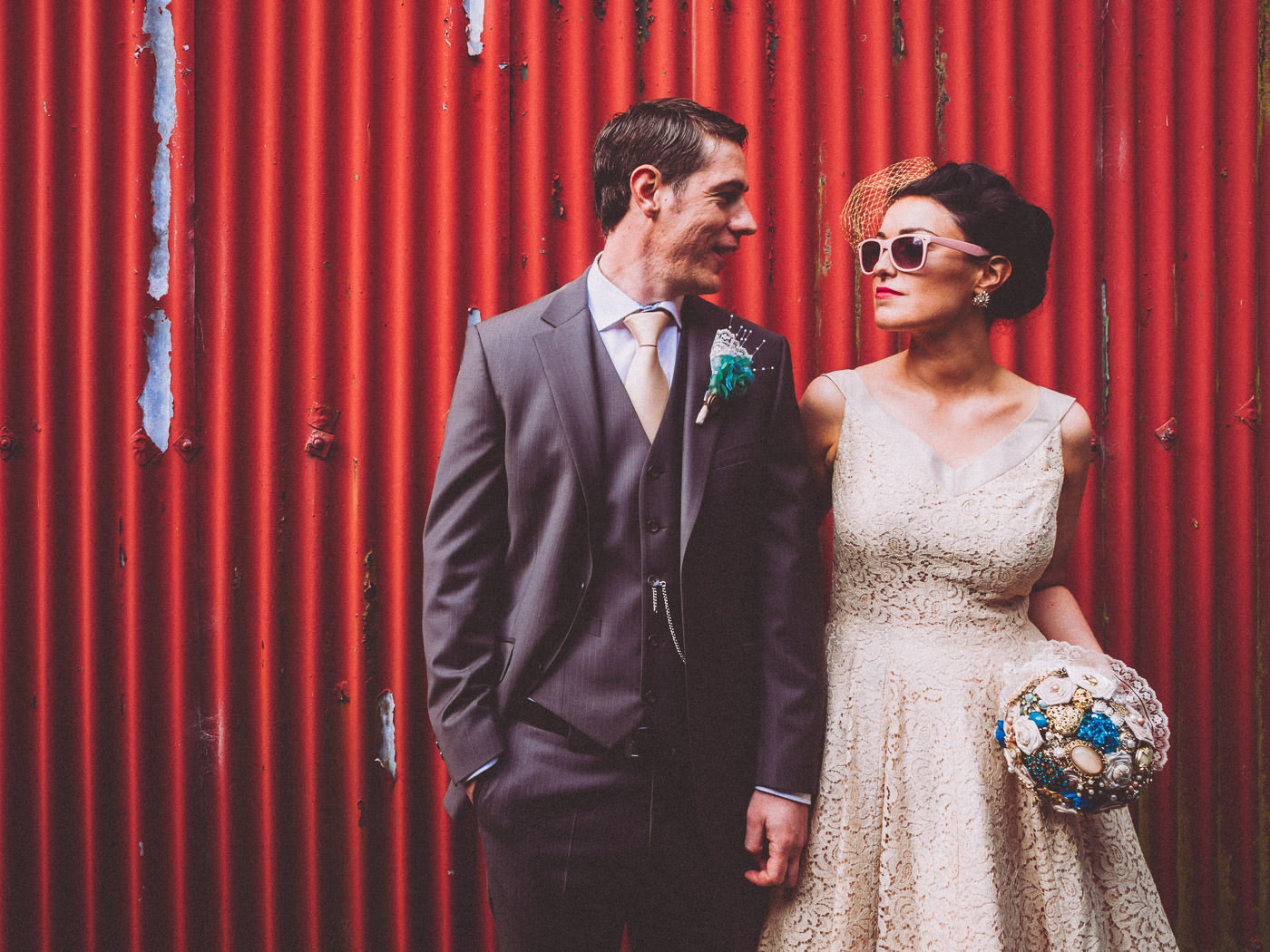 "Irish wedding with ""whimsical vintage feel"""